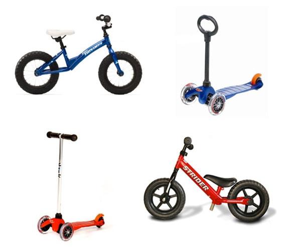 xe dap can bang va xe truot scooter