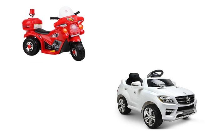 xe oto điện và xe máy điện trẻ em nên mua loại nào