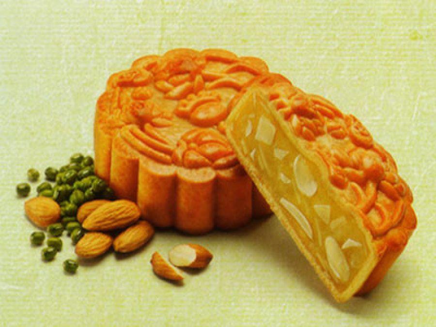 Bánh xanh kinh đô đậu xanh hạnh nhân