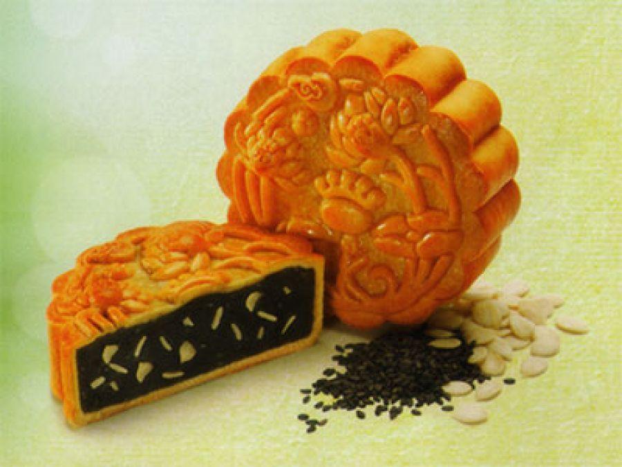 Bánh trung thu xanh mè đen