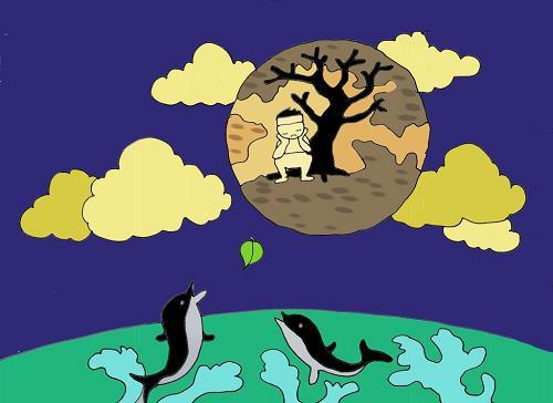 Hình ảnh chú cuội trông trăng