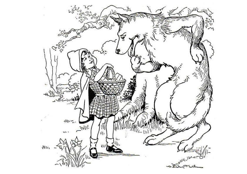 Cô bé vô tình gặp con sói