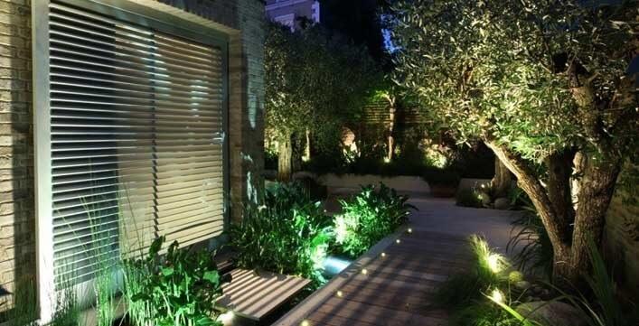 Mẫu đèn pha led sân vườn